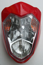 Universal Red Motorcycle Headlight Streetfighter Custom **CAN BE PAINTED* Honda