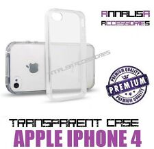 COVER TRASPARENTE PER APPLE IPHONE 4 4S CUSTODIA GEL TPU SLIM TRANSPARENT CASE