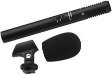 Monacor ECM-600ST Stereo Mikrofon für Video Kamera Kameraschuh Windschutz Niere
