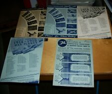 HARBOROUGH AIRCRAFT BOOKS AERO MODELLER PLANS SERVICE LEAFLETS c1945 (5)