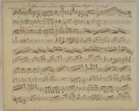 Andreas Hofer OPER Kirchhoff NOTEN Handschrift Orig. Notenblatt um 1850 Hymne