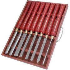 Neilsen Calidad 8pc HSS Torno de Talla de madera conjunto de Cincel Gubia despedida herramientas 0056 *