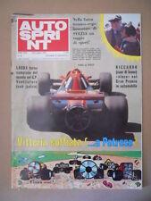 Autosprint n°25 1978 Niki Lauda Riccardo Patrese [G586A]