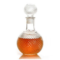 Crystal Whiskey Wine Shot Glass Bottle With Cap Stopper Drinking Bar Decanter
