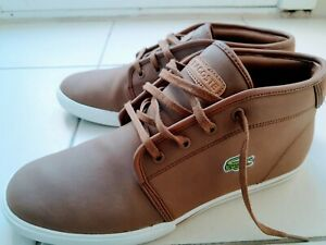 Lacoste Youths Ampthill 119-1 CMA/LT BRW Sneaker Shoes in Camel (Like New) US 9