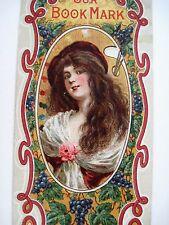 "Vintage Victorian Ad Bookmark ""Price Baking Powder"" w/ Woman On Paint Palette*"