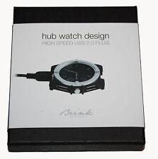 Brink Hub Reloj Diseño De Alta Velocidad Usb 2.0 Plug-Nuevo