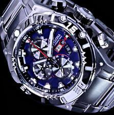 Festina Herren Armband Uhr Blau Silber Farben 10 Atm Edelstahl Chronograph