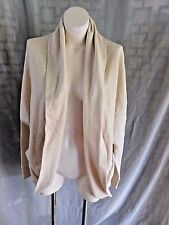 Tommy Hilfiger Beige Gold AthLuxe Long Sleeve Open Front Sweatshirt Cardigan XL