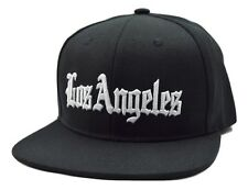 Los Angeles City Black Flat Bill Snapback Cap Hat