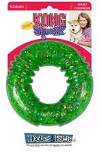 Dog Toy Kong Squeezz Confetti Ring Medium Pet Holiday Durable Squeaker Assorted