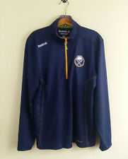 Reebok Buffalo Sabres Center Ice NHL 1/4-Zip Pullover Blue Mens Size: M