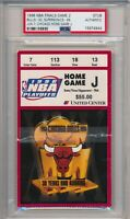1996 NBA Finals Chicago Bulls vs Seattle GM 2 Ticket Stub PSA #4944 Jordan