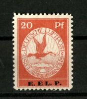 "German Reich - 20 pf. "" Rhein und Main Air "" E.EL.P. - Mi.Nr. V SIGNED MNH"
