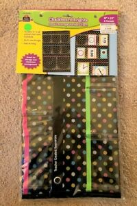 """Chalkboard Brights Small Storage 8 Pocket Chart 15""""x23"""" new NIP teacher organize"""