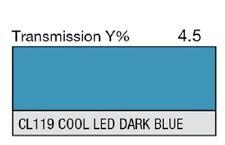 "Lee Filters CL 119 Cool LED Dark Blue Lighting Gel Sheet 21"" by 24"""