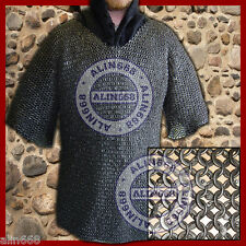 Chain Mail Shirt Round Riveted Ring with Flat Washer Chainmail Shirt Medium Size