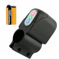 Allarme acustico+Batteria antifurto catena codice lucchetto bicicletta bici LBAC