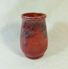 Petit vase en céramique BARON BARNSTAPLE Émaillage bordeaux Art-nouveau 1900's