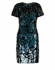 Monsoon Size 12 Black/Blue Sofia Sequin Party Dress - New with tags, RRP £109