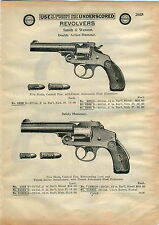 1910 AD Smith & Wesson Revolver Double Action Hammer Safety Military Police 1903