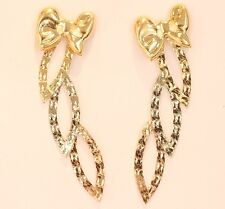 14K Gold Tri Color Earring #55