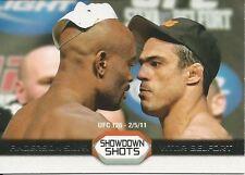 Anderson Silva Vitor Belfort 2011 Topps UFC Moment Of Truth Showdown Shots #SSSB