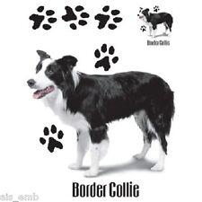 Border Collie Dog HEAT PRESS TRANSFER PRINT for T Shirt Sweatshirt Fabric #814e