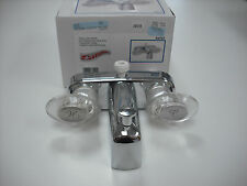 "RV - Tub / Shower Faucet Replacement  - Chrome Color - 4"" Between Handles"
