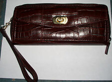 Sonoma Life Style CLUTCH WALLET - Brown w/Strap - Small yet versatile! NEW!
