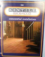 KENTILE Commercial Floors REINFORCED VINYL ASBESTOS Tile Flooring Catalog 1981