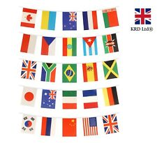 INTERNATIONAL BUNTING 25 Flags Football Soccer World Cup Country Banner 7m UK