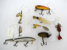 Lot of 8 Vintage Fishing Lures and Hooks - Assorted