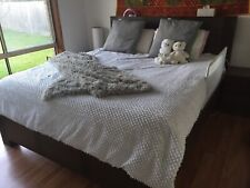 KING Size Bedroom Suite Bed With 2 Bedsides & Dresser & Mirror