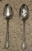 Oneida Distinction Deluxe KENNETT SQUARE Pierced & Regular Serving Spoons