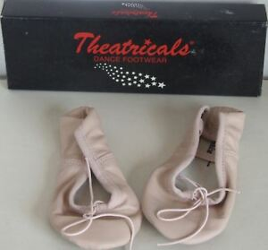 Toddler Theatricals Dance Footwear Black White or Pink Full Sole Ballet Slippers