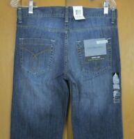 New! Calvin Klein Wide Leg  dark wash Mid Rise Women's Denim Blue Jeans Size 6