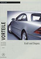 Mercedes Vorteile CL Klasse Design 1999 4/99 Publikation Prospekt brochure Auto