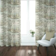 Carolina Linens Pinch Pleated Curtains Bosporus Flax Blue Renaissance Toile