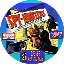 SPY-HUNTERS COMIC BOOKS - 22 VINTAGE ISSUES - PDF ON DVD - WAR, SPIES, SOLDIERS