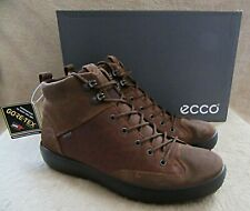ECCO Soft 7 Tred M HIgh Top Cocoa Gore-tex Leather Shoes US 10 - 10.5 EUR 44 NWB