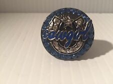 "1"" blue crystal horseshoe rodeo western cowboy cowgirl stretch ring free size"