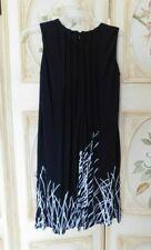 Calvin Klein Black/White Printed Sheath Dress Sleeveless Size 2P