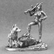 Toy Soldiers Apocalypse Hunter Girl with dog 1/32 Figure 54mm Fallout cosplay