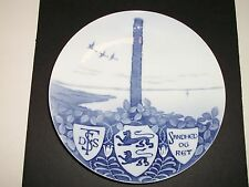 """Royal Copenhagen Plate 1898 The Centoph 8 3/4"""" 1,200 Made Rc#24 / See Details"""
