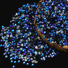 2000Pcs Round AB Crystal 3D Nail Art Gems Rhinestone Diamond Decor Nice New