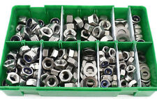 255 ASSORTED PIECE A2 STAINLESS STEEL M6 M8 M10 NYLOC FULL NUTS & WASHERS KIT