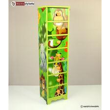 Kinderkommode Kinderschrank Kinder Schrank Regal Dschungel +Schubladen
