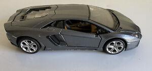 LAMBORGHINI AVENTADOR LP700-4 gray1/24 DIECAST CAR MODEL BY MAISTO