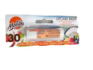 🧡NEW Malibu LIPCARE BALM UVA/UVB Sunscreen protection tropical flavour 30 SPF